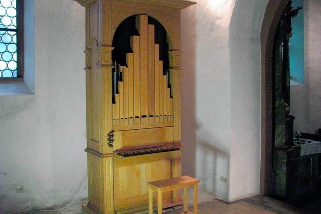 Lobpreis auf der gestifteten Orgel