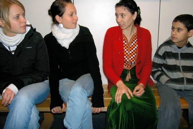 Turkmenin zu Gast am Gymnasium Kenzingen