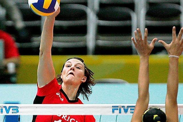 Grün und Guidetti bei Basler Volleyball