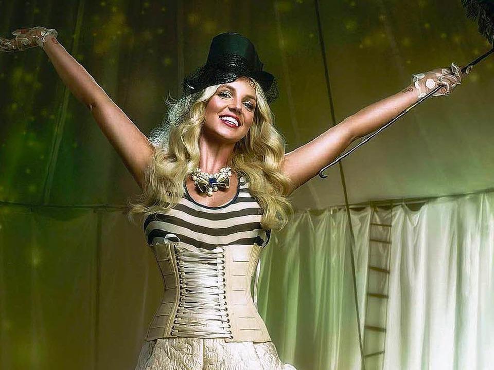 Sie tanzt auf dem Hochseil in der Medienarena: Britney Spears  | Foto: BZ