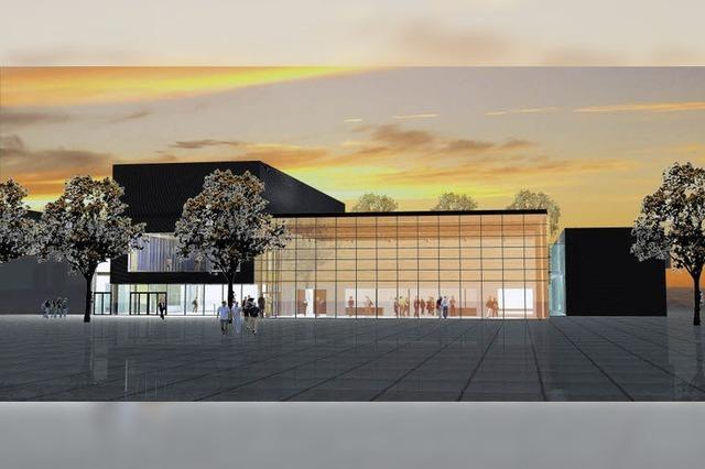 Donauhalle erhält Foyer aus viel Glas