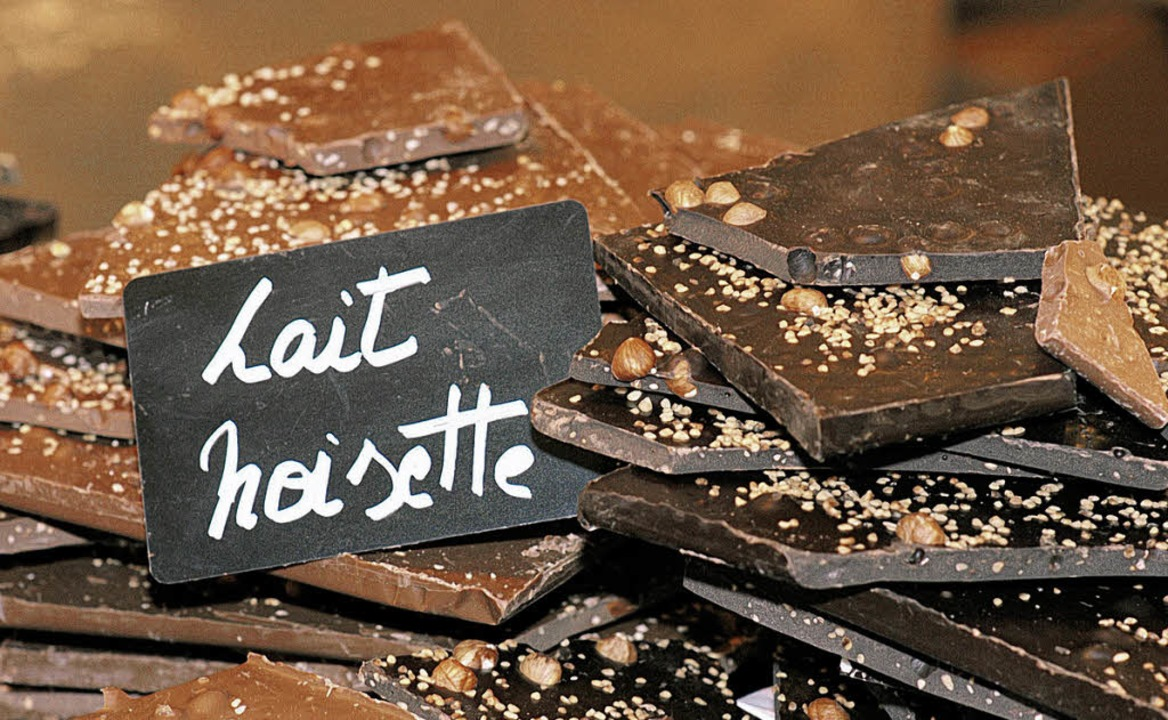 Gute Die schönste Form der Kakaobohne: Schokoladentafel   | Foto: BZ