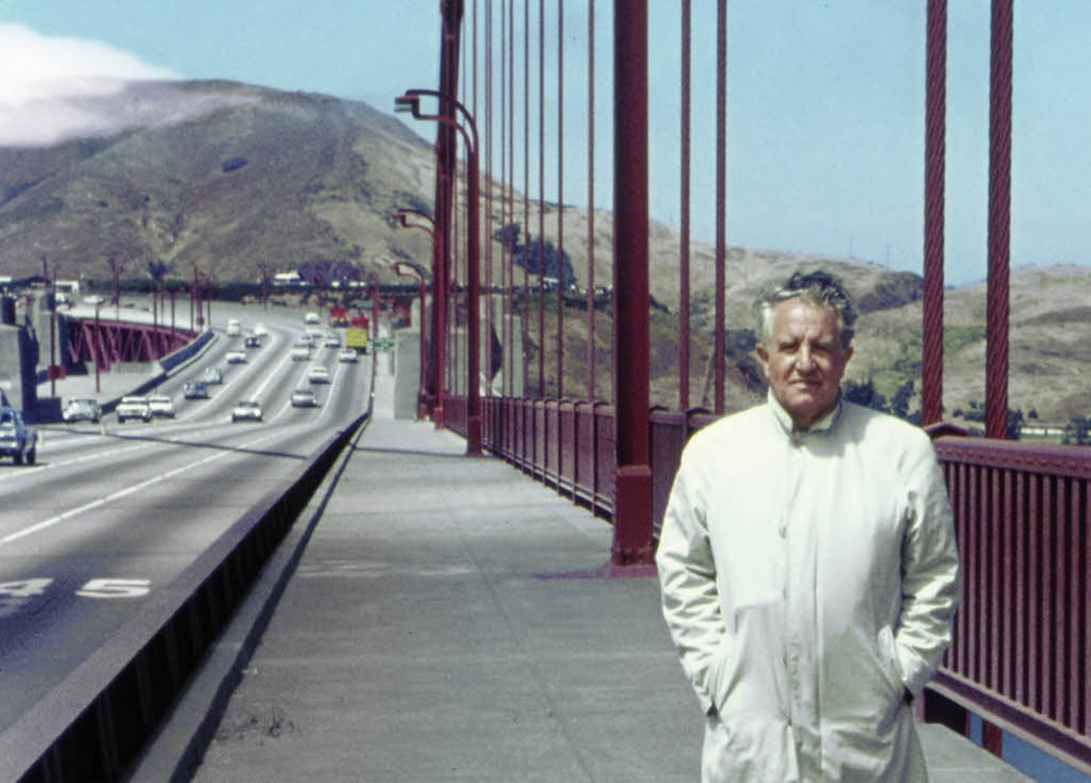 Grenzerfahrung: Der Kybernetiker    Max Bense an der Golden Gate Bridge   | Foto: bz