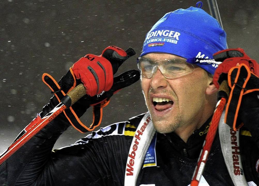Auftakt nach Maß: Michael Greis war in Östersund nicht zu schlagen.    | Foto: dpa