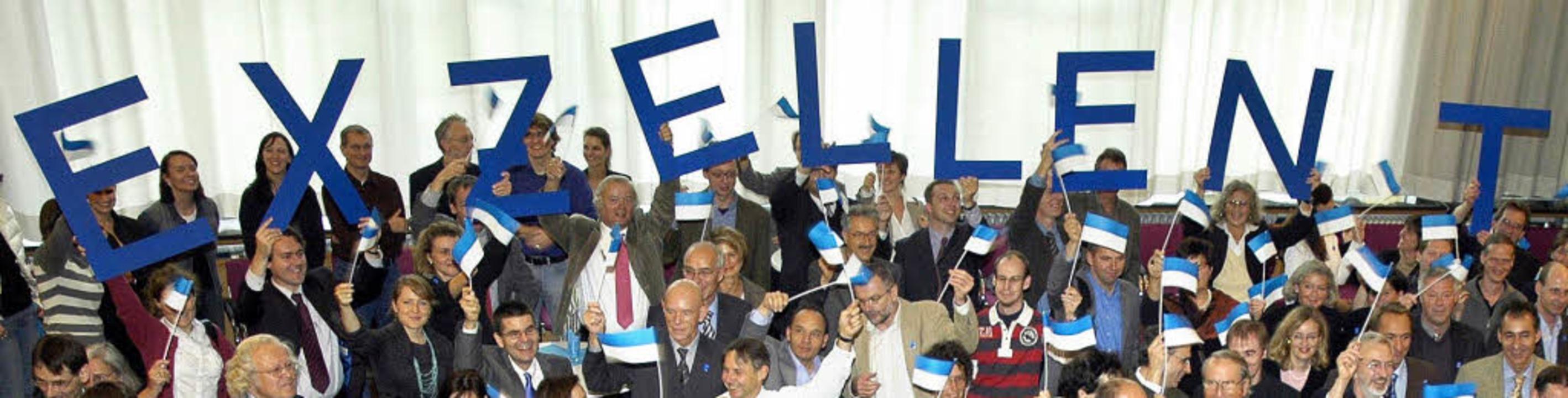 Die Stunde Null: Am 19. Oktober 2007 f... Auszeichnung als  Eliteuniversität.    | Foto: sasse