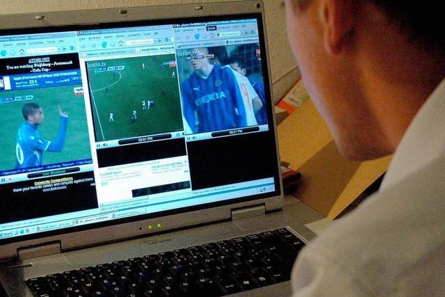 Ein Fußballabend vor dem PC