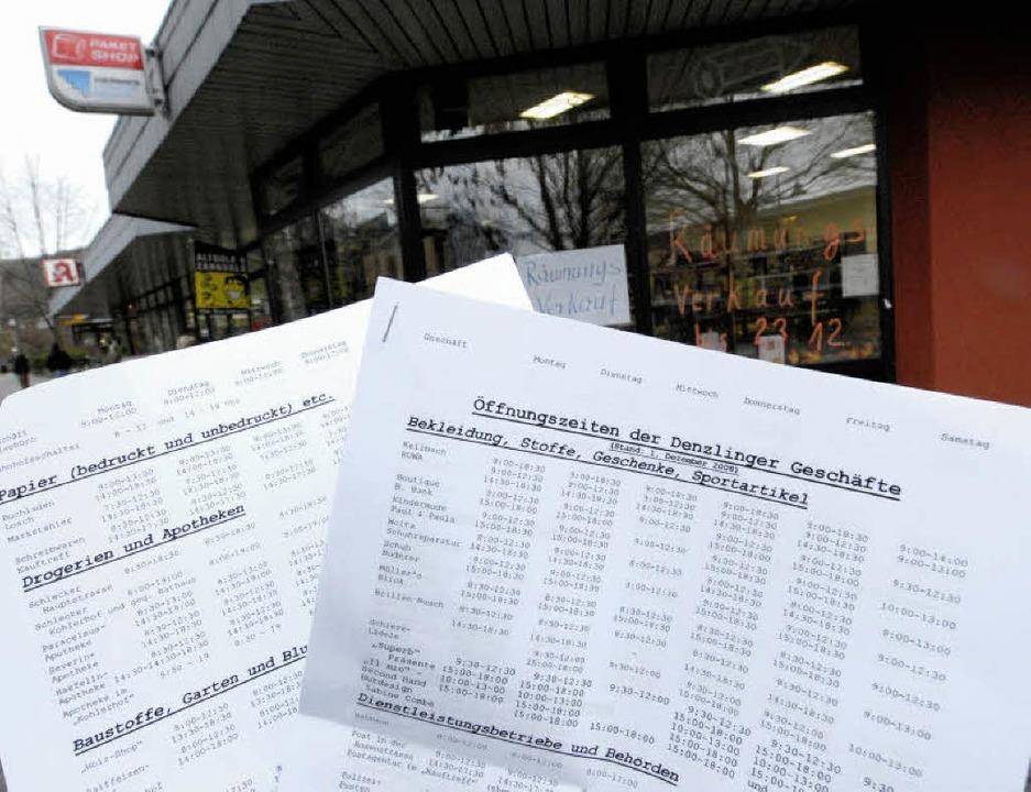 Räumungsverkauf bei Schreibwaren Klaib...r neuen Liste von Hans-Werner Tschöp.   | Foto: MZD