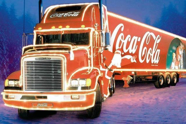 Weihnachtstruck von Coca-Cola kommt