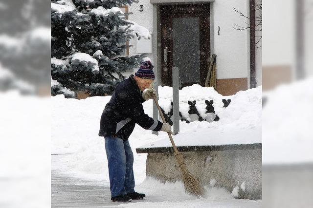 Spaß und Frust mit Schnee