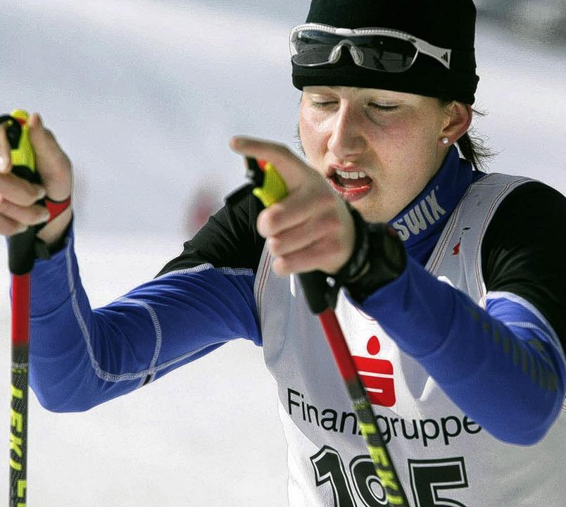 Tief durchatmen auf dem Weg zu weiteren Erfolgen: Raphaela Sieber  | Foto: Dieter Reinhardt