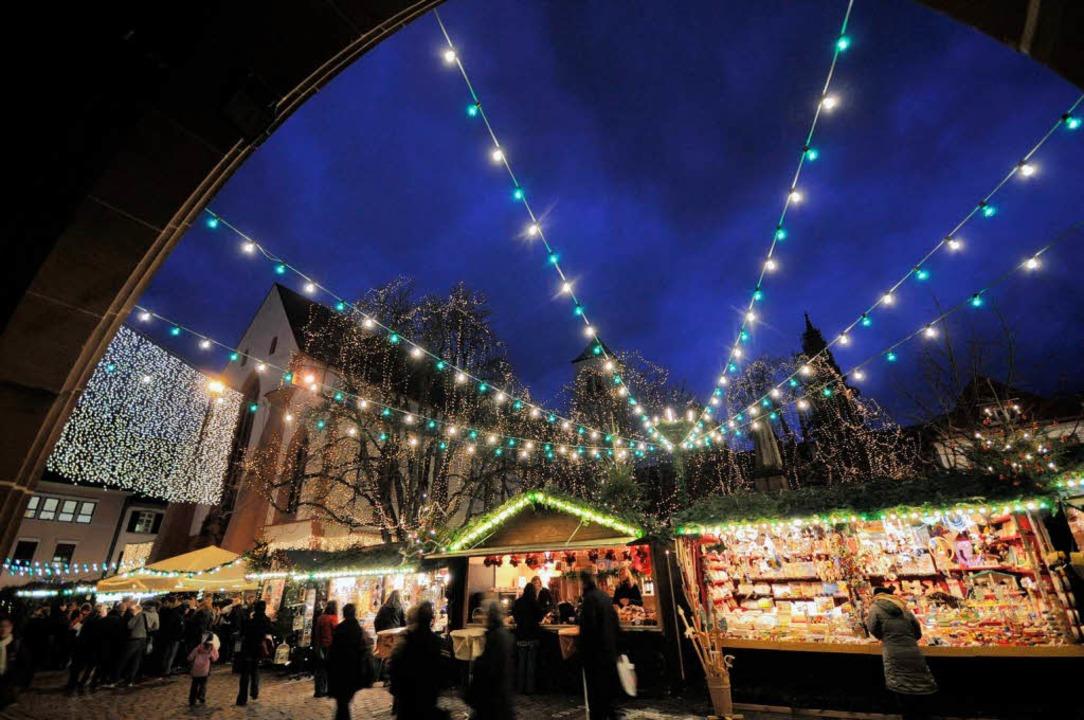 Tabu: Der Weihnachtsmarkt ist laut Pol...agungsort einer Demo am Adventssamstag  | Foto: Ingo Schneider