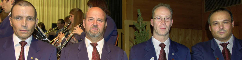 <Bildtext>Vorsitzender Michael Moser e... Peter Stratz</Bildtext> (von links).   | Foto: Elfriede Mosmann