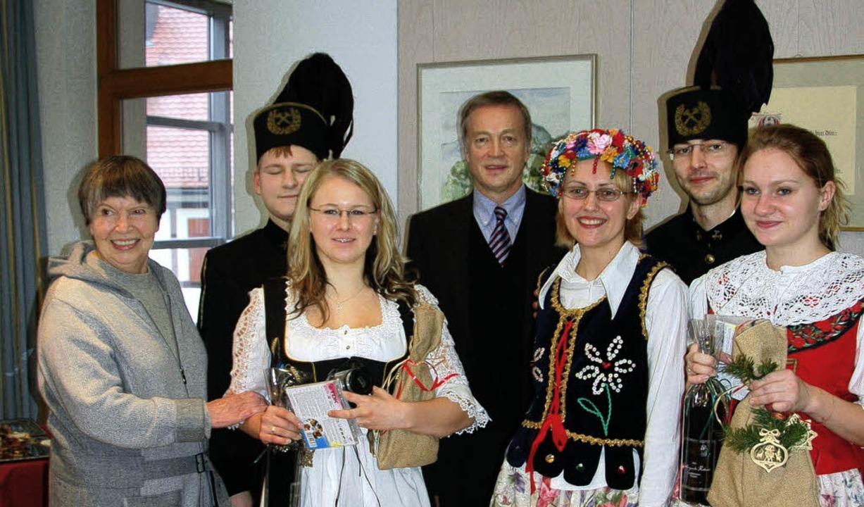 Farbenprächtige Gäste aus dem polnischen Bierun   | Foto: Frank Kiefer