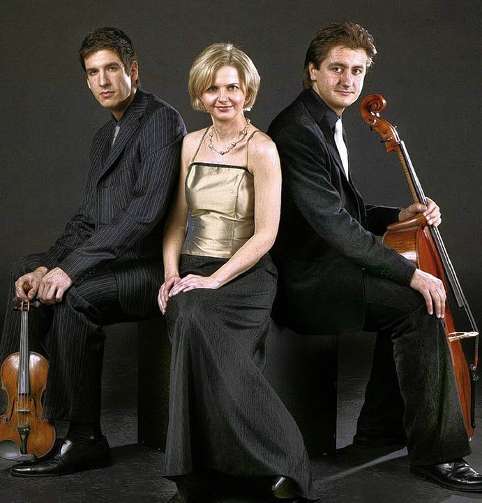 """Das """"Trio Elégiaque"""" gastiert im Rosenhof.      Foto: BZ"""