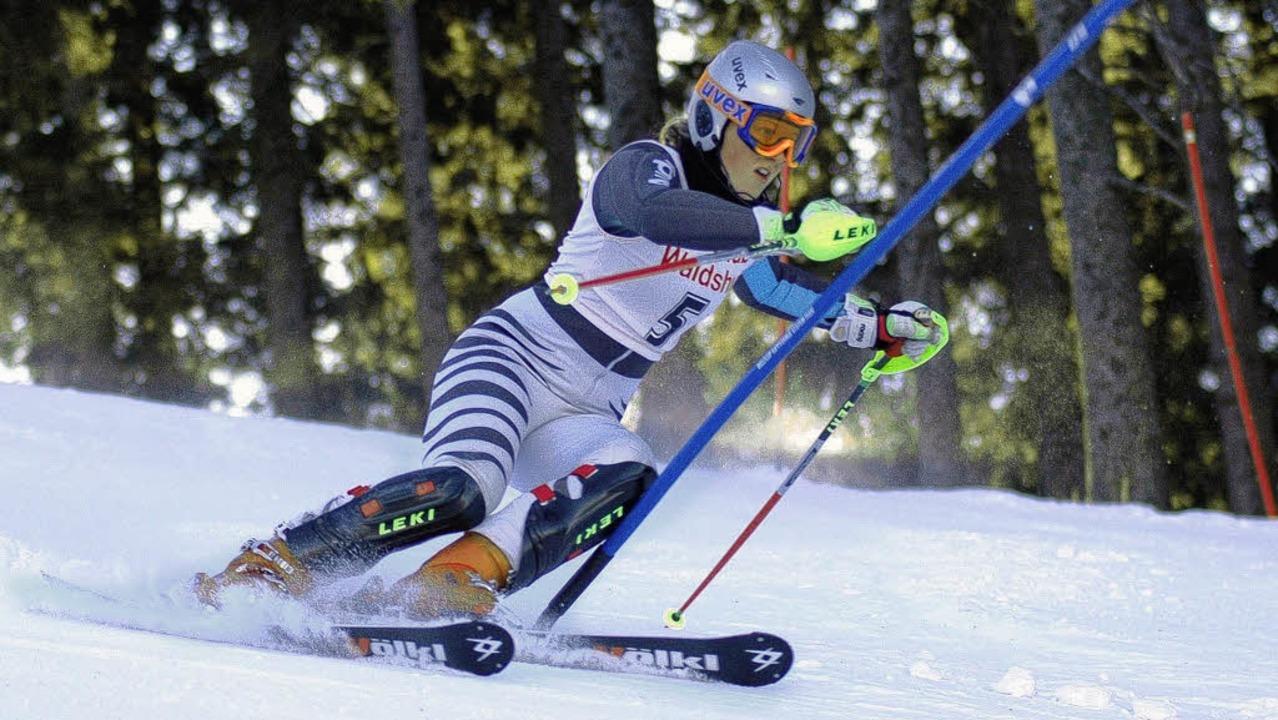 Veronika Fus vom Ski-Club Freiburg steht im Jugendkader  von Baden-Württemberg.     Foto: Matthias Kaufhold