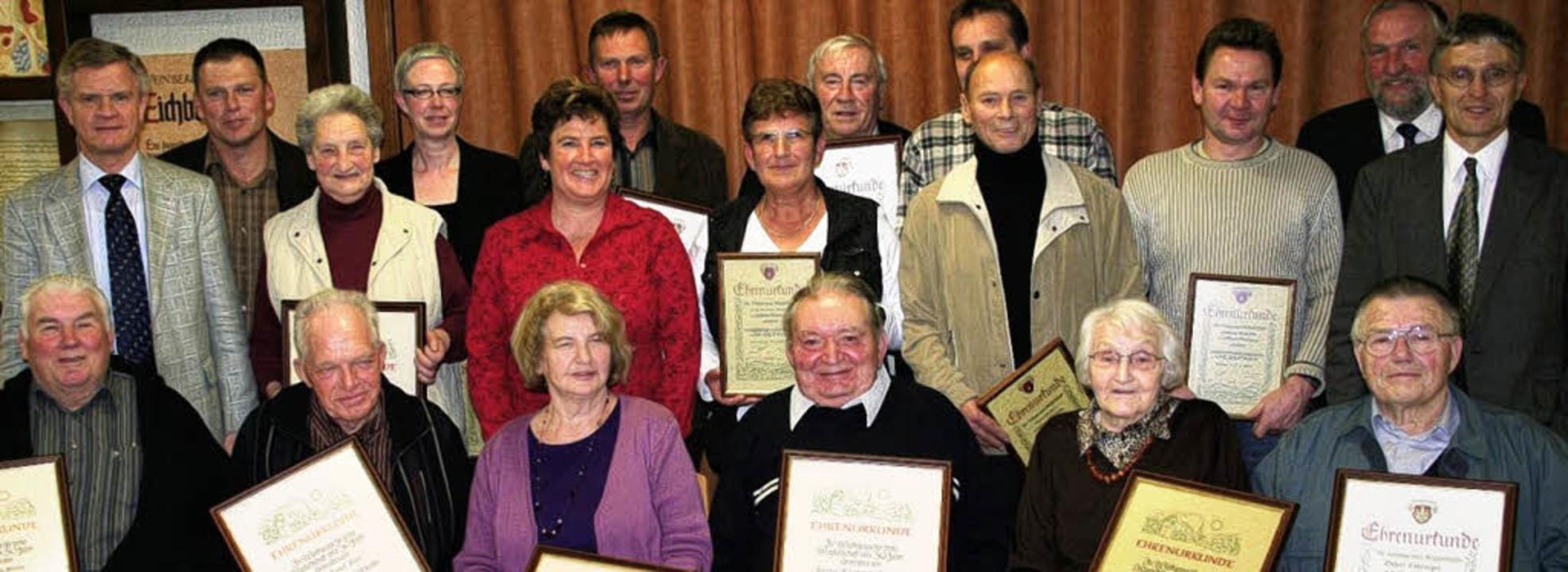 <Bildtext>Die WG  Oberrotweil ehrte  zahlreiche treue  Mitglieder.</Bildtext>  | Foto: bianka pscheidl