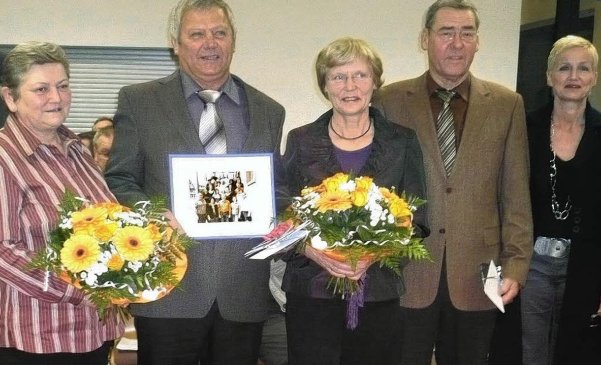 Abschied in den Ruhestand (von links):...Personalratsvorsitzende Ellen Fischer   | Foto: Dieter Fink