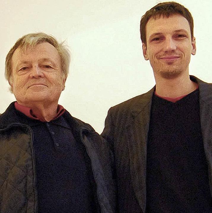 Galerist Nikolaus  Bischoff (rechts) z...tler Oda und Roland Bischoff (links).   | Foto: Archivfoto: ybm