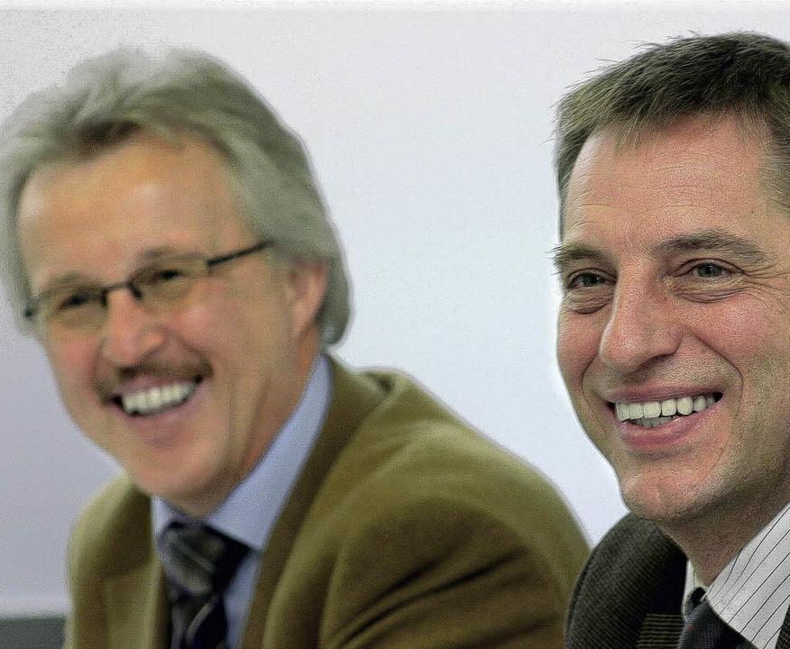 Haben  gut lachen: Georg Benz  (links) und Armin Mittelstädt   | Foto: henning
