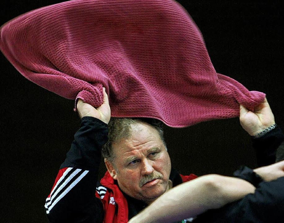 Gegen  Berlin muss RKG-Trainer Karl Hu... nicht vorzeitig das Handtuch werfen.   | Foto: seeger
