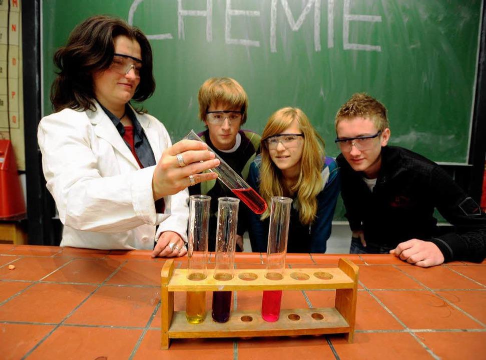 In der  Breisacher Realschule wird es ...chüler besonders interessieren, geben.    Foto: dpa