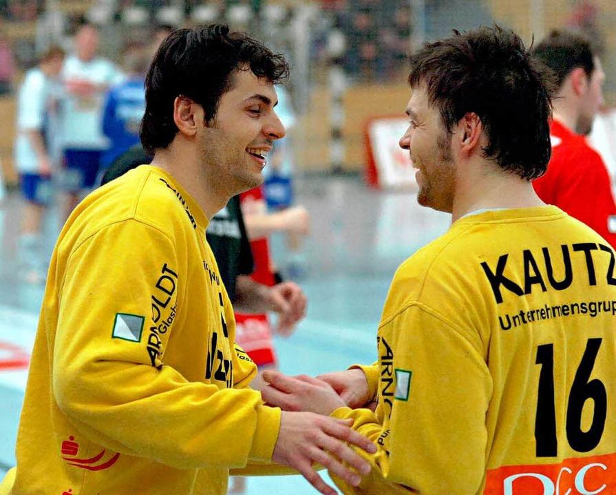 Zusammen mit Daniel Sdunek (rechts)  | Foto: Michael Heuberger