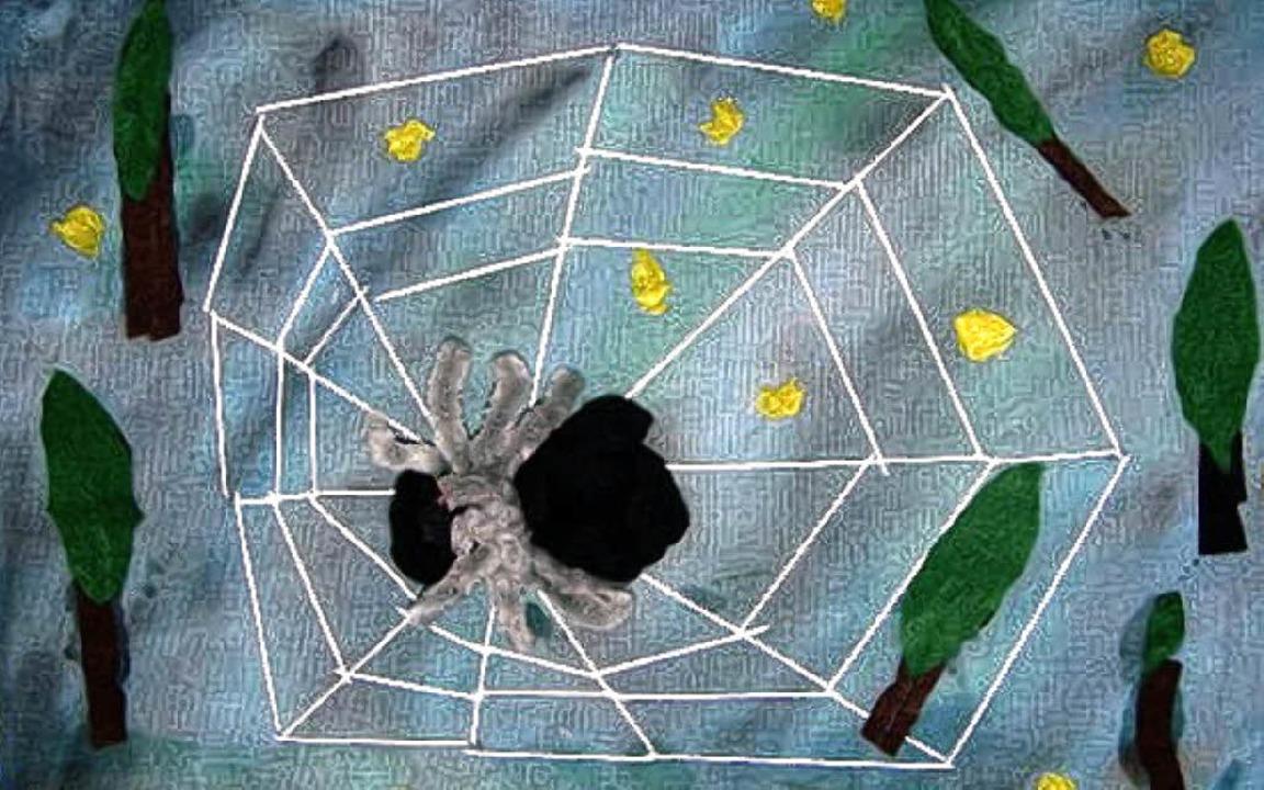 So sieht Edits fertiges Spinnen-Bild aus.     Foto: Privat