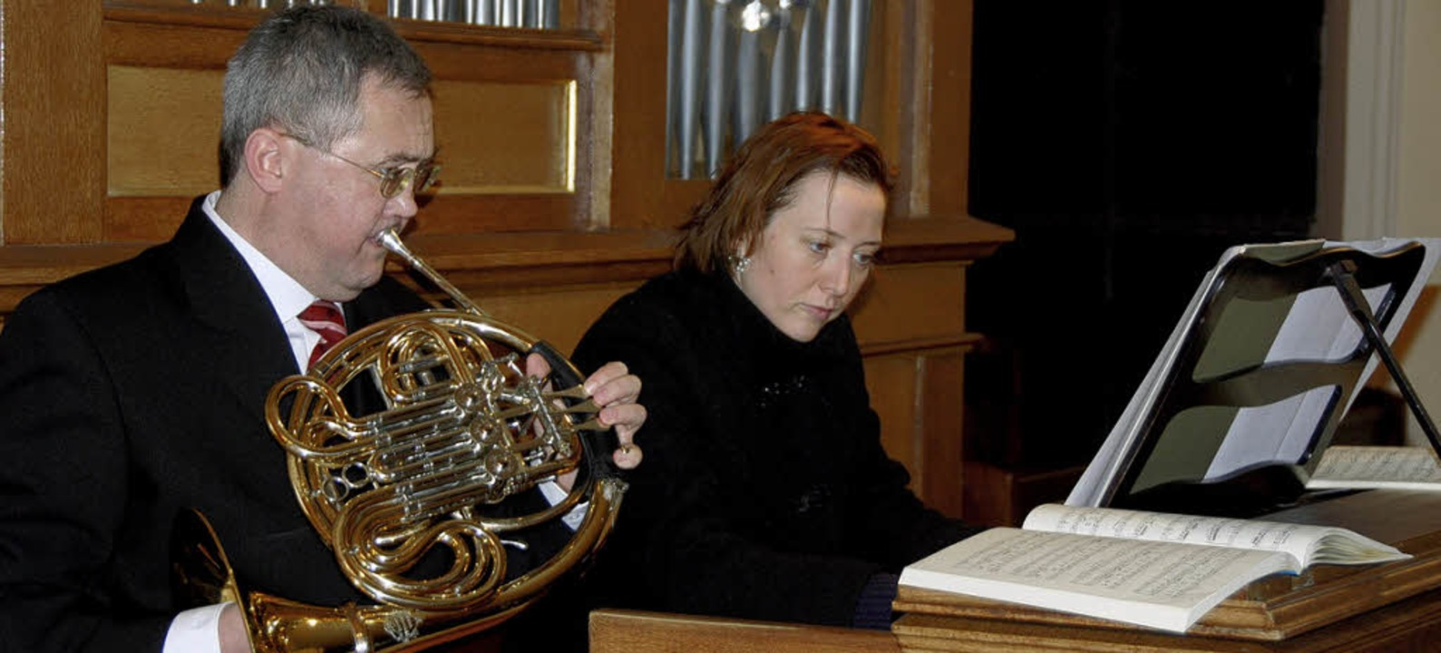 Arkardiusz Saternus (Horn) und Uraniah Keil (Orgel)   | Foto: Roland Vitt