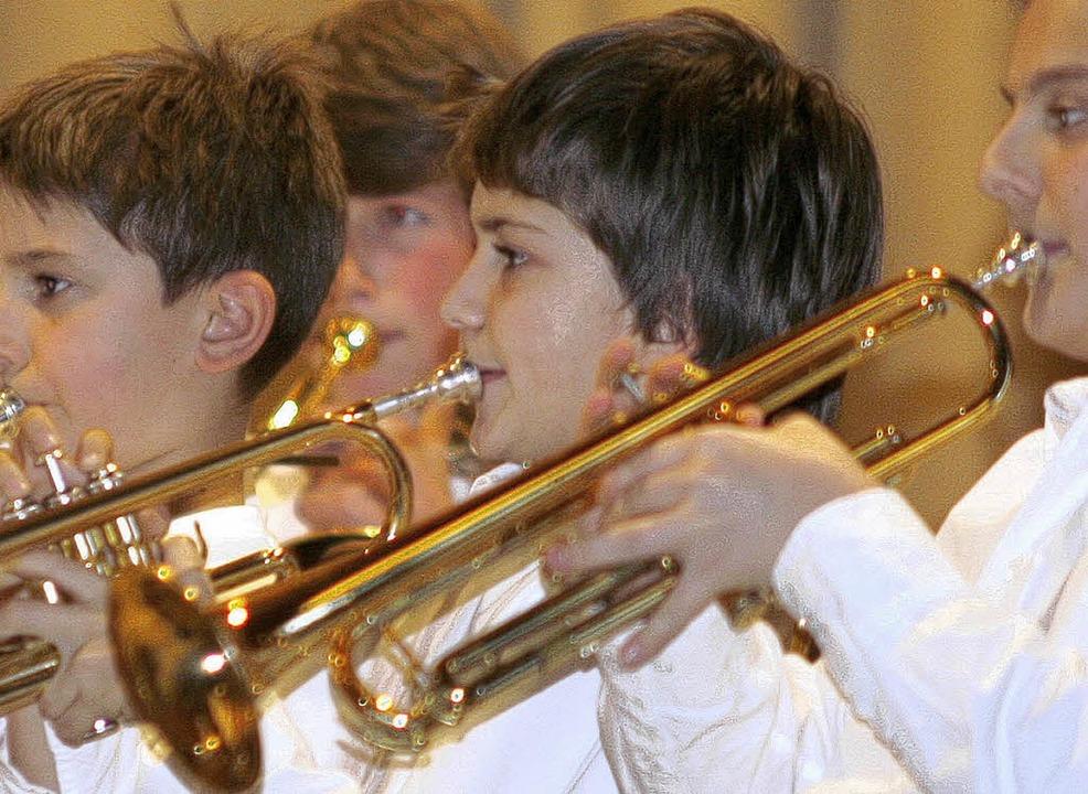 Mit Eifer bei der Sache: junge Musiker der Stadtkapelle   | Foto: Heidi Fössel