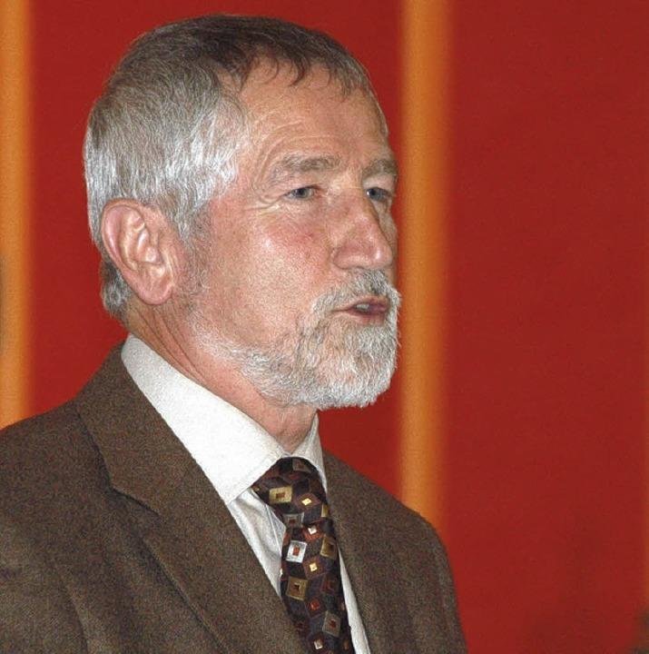 Karl Heinz Beck (66), Vörstetter Bürge...ng und ruft zu positivem Denken auf.      Foto: Hans-Jürgen Truöl