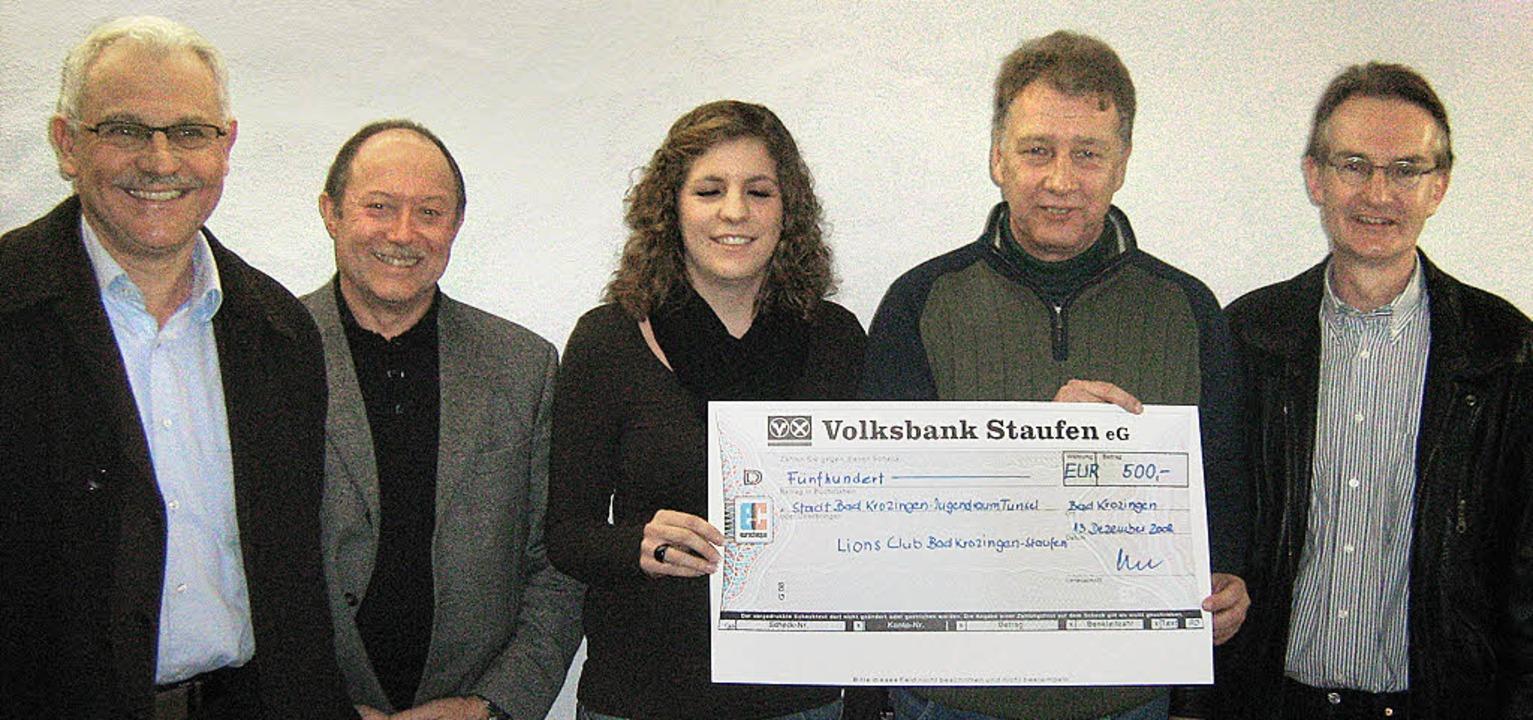 Über die Fertigstellung des Jugendraum...), Roland Hinderle und Bernhard Litz.     Foto: Anne Freyer
