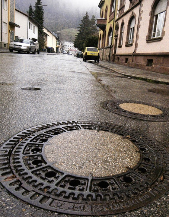 Was fließt wirklich  in den Kanal? Die...ftig  gesplittete Abwassergebühren.     | Foto: Bergmann