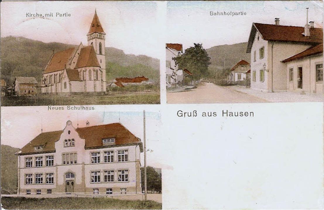 Diese alte  Ansichtskarte zeigt rechts...NurRepro> Elmar Vogt</BZ-FotoNurRepro>    Foto: Repro Vogt