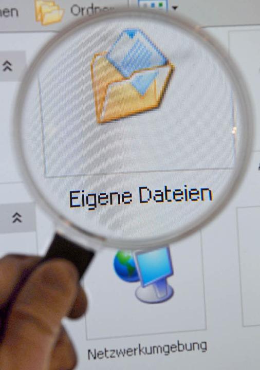Rein private Dateien sollen sofort gelöscht werden.   | Foto: DPA