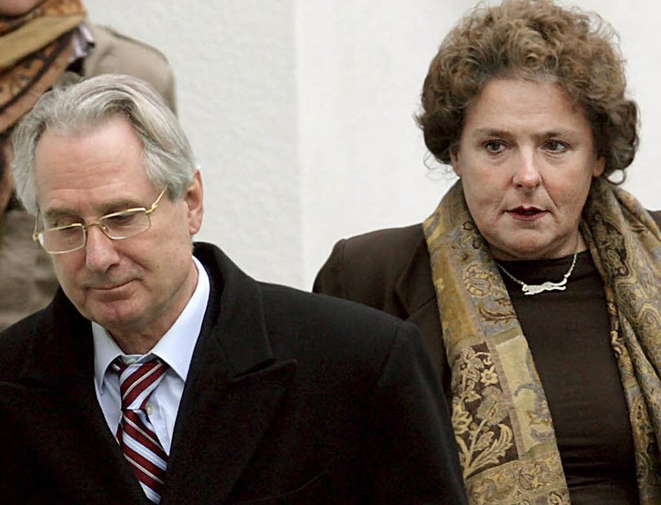 Margrit Lichtinghagen und der frühere ...us Zumwinkel im Februar dieses Jahres     Foto: DPA