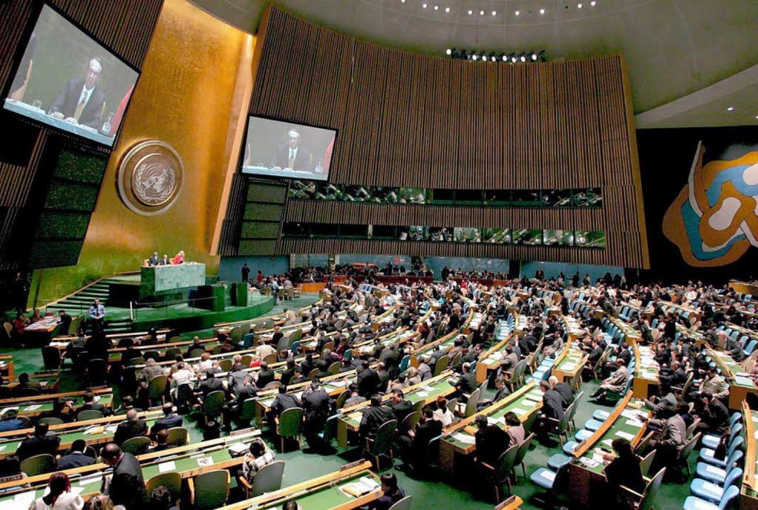 Eine Sitzung der UN-Vollversammlung in New York    Foto: afp