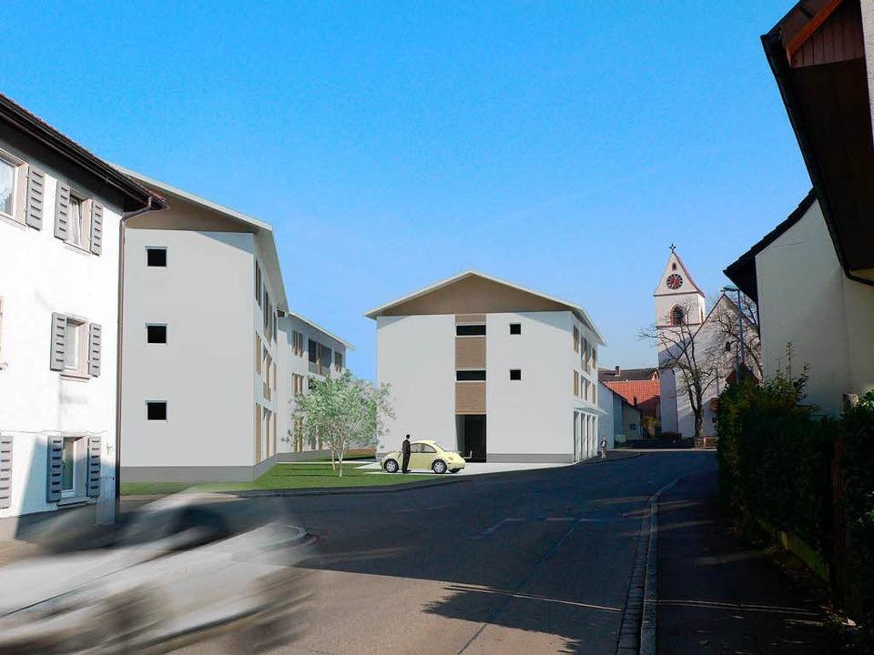 Fotomontage mit dem Bebauungsvorschlag...in Höllstein bei der Margarethenkirche  | Foto: privat