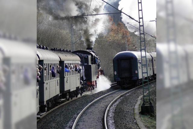 Vier Dampfloks treffen sich in Offenburg