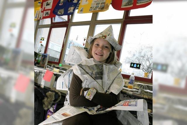 Schneeflocken aus BZ-Papier