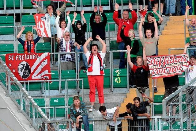 Weniger Fans wollen den SC Freiburg sehen