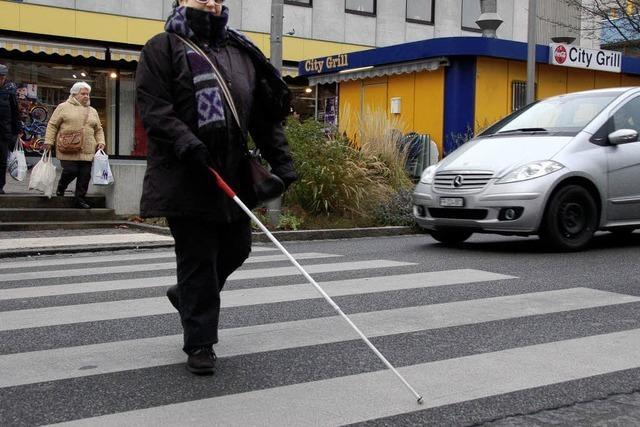 Für Blinde fehlen oftmals die Leitlinien