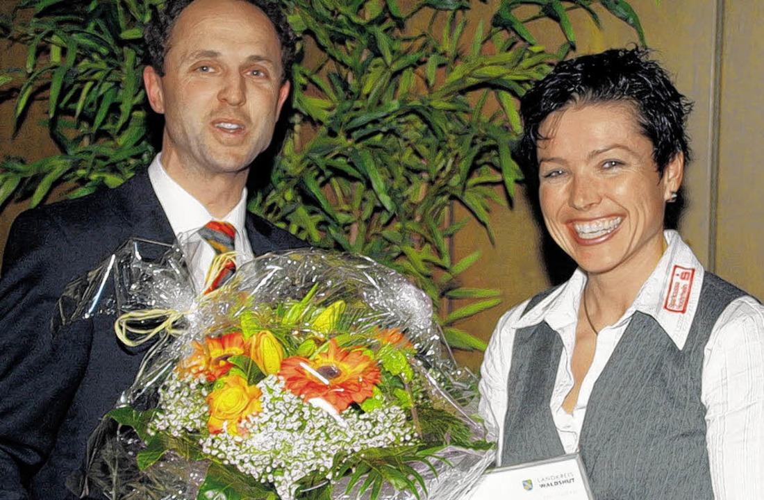 Landrat Tilman Bollacher hat Olympiasi...e des Landkreises Waldshut verliehen.     Foto: Gerald Edinger