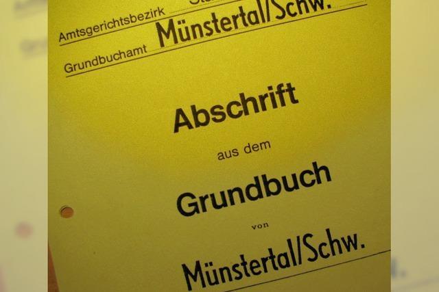 Münstertal gibt sein Grundbuchamt ab