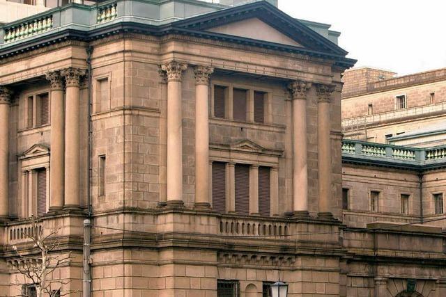 Japans Notenbank senkt Zinsen auf praktisch Null
