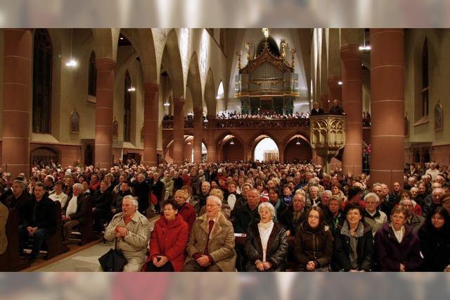 1400 Zuhörer sind eingestimmt auf das Fest