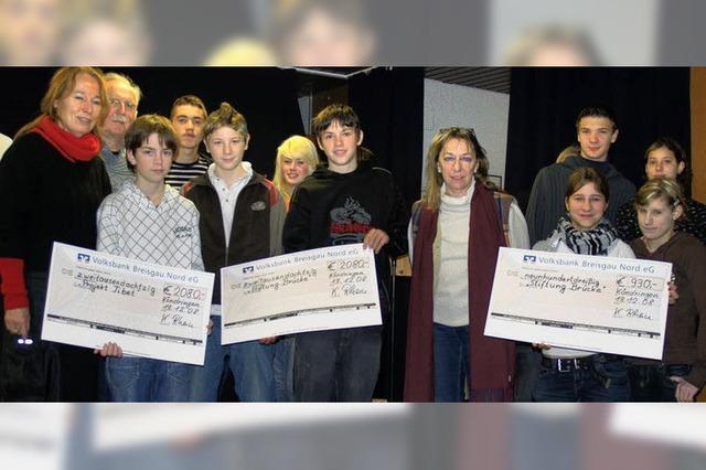 Schule spendet mehr als 5000 Euro