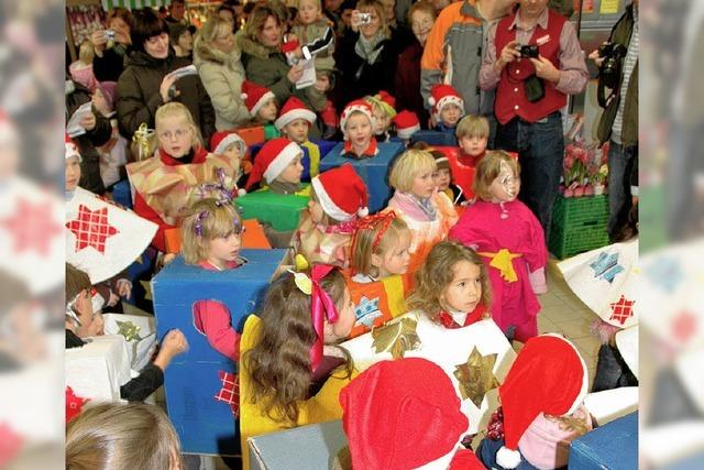 Rewe-Wette: Kinder als Weihnachtsgeschenke