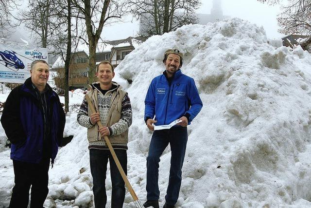 Künstler sind zufrieden mit dem Schnee