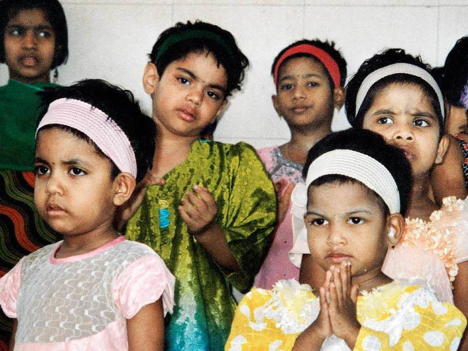 Die Kinder im Aidswaisenhaus in Bombay  | Foto: Frauke Wolter