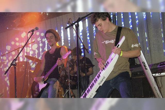Die Band Six Black rockte am besten